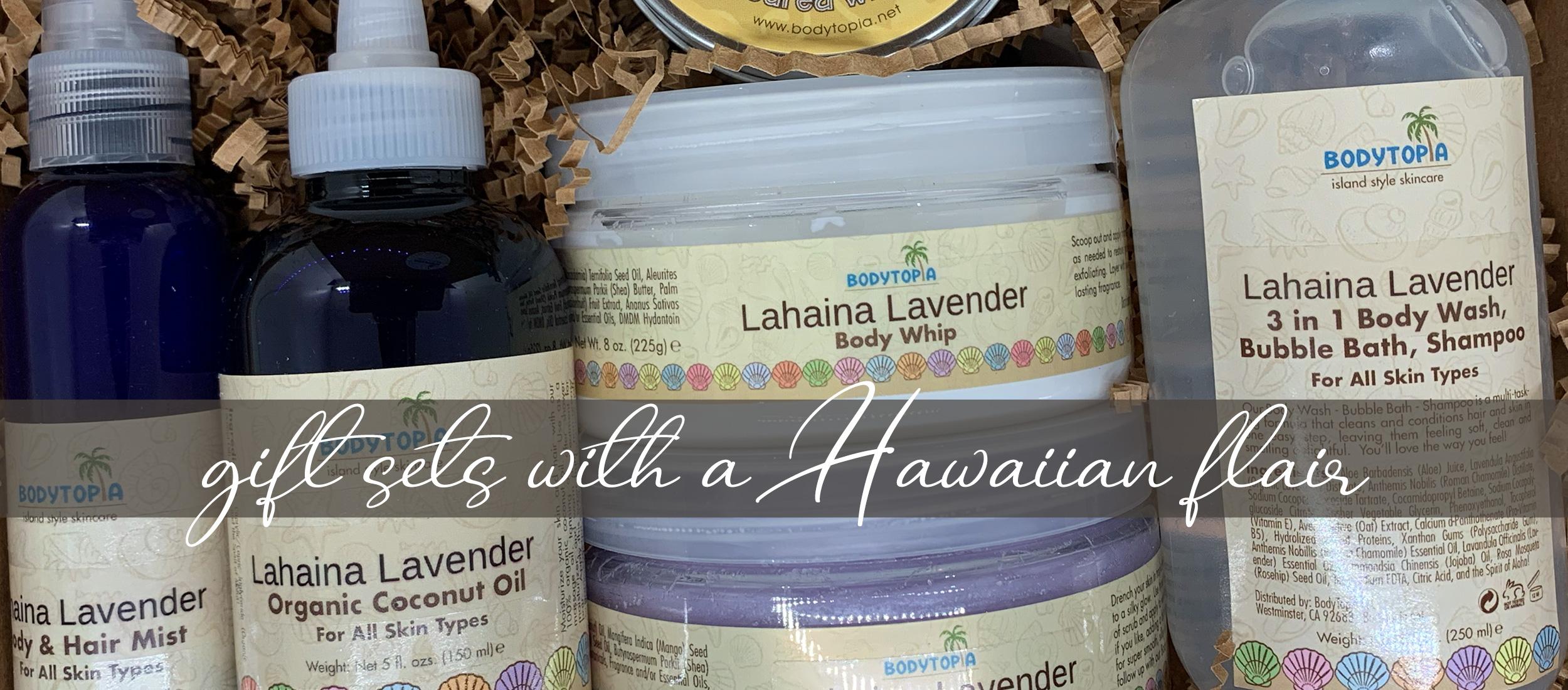 Gift sets with a Hawaiian flair